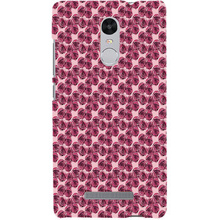 ifasho Animated Pattern small purple rose flower Back Case Cover for REDMI Note 3