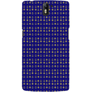ifasho Modern Art Design Pattern with Lot Of small anchor and disc Back Case Cover for One Plus One