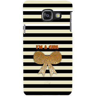 ifasho I am a girl Back Case Cover for Samsung Galaxy A3 A310 (2016 Edition)