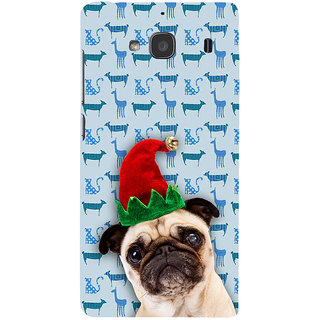 ifasho Dog with red hat Back Case Cover for Redmi 2S