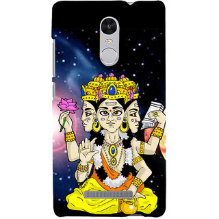 ifasho Lord Brahma Back Case Cover for REDMI Note 3