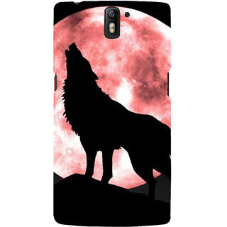 ifasho Animation of wolf howling Back Case Cover for One Plus One