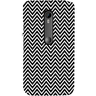 ifasho Animated Pattern of Chevron Arrows Back Case Cover for Moto G3