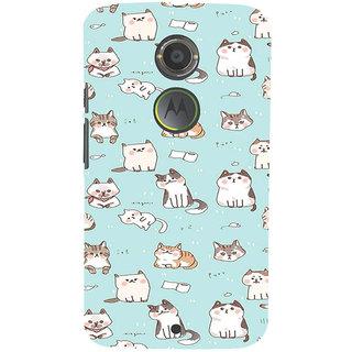 ifasho Animated Design  Many Cat Back Case Cover for Motorola MOTO X2