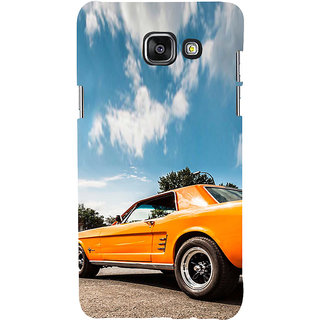 ifasho Orange colour Car Back Case Cover for Samsung Galaxy A5 A510 (2016 Edition)