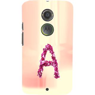 ifasho alphabet name series A Back Case Cover for Moto E2