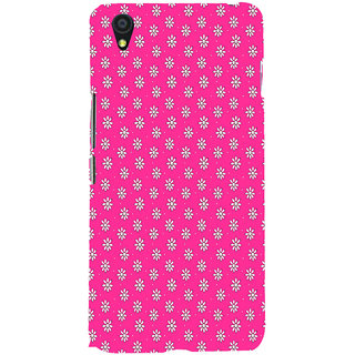 ifasho Animated Pattern design white flower in pink background Back Case Cover for One Plus X