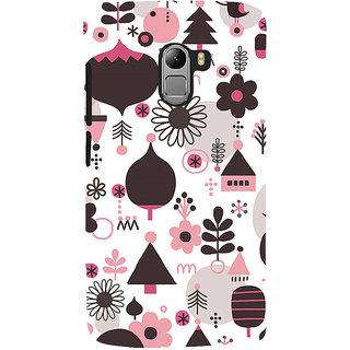 ifasho Animated Pattern colrful 3Dibal design cartoon flower Back Case Cover for Lenovo K4 Note