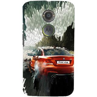 ifasho Animation Car Back Case Cover for Motorola MOTO X2
