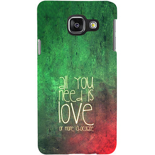 ifasho Love Quotes for love and chocolate Back Case Cover for Samsung Galaxy A3 A310 (2016 Edition)