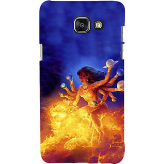 ifasho Godess Durga Back Case Cover for Samsung Galaxy A5 A510 (2016 Edition)