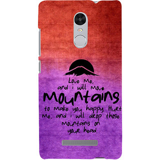 ifasho Love Quotes for love Back Case Cover for REDMI Note 3