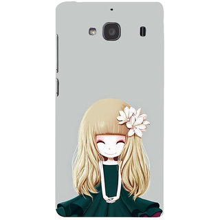 ifasho Girl  with Flower in Hair Back Case Cover for Redmi 2S
