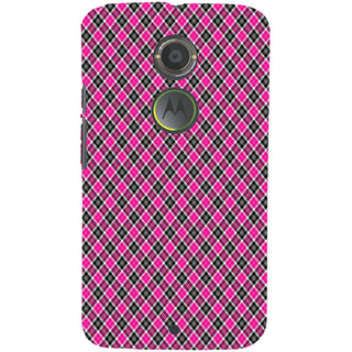 ifasho Colour Full Square Pattern Back Case Cover for Motorola MOTO X2