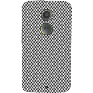 ifasho Design lines pattern and square pattern Back Case Cover for Moto E2
