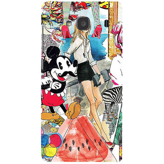 ifasho Modern Art Design Pattern girl shop car food bird Back Case Cover for Redmi 2S