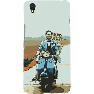 ifasho husband and wife happy drive in scooter Back Case Cover for One Plus X
