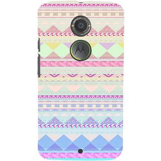 ifasho multi color 3Diangular Pattern Back Case Cover for Motorola MOTO X2