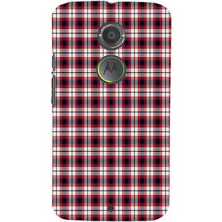 ifasho Colour Full Squre Pattern Back Case Cover for Motorola MOTO X2