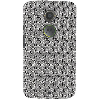ifasho Animated Pattern  littel and Big Circle black and white Back Case Cover for Motorola MOTO X2