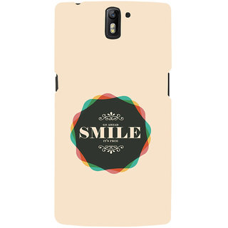 ifasho Nice Quote On beautiful Back Case Cover for One Plus One