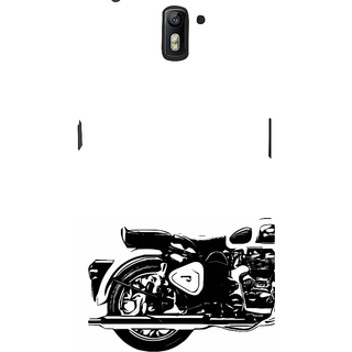 ifasho Royal Bike Back Case Cover for One Plus One