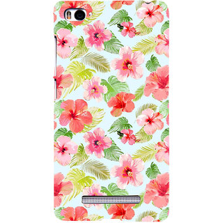 ifasho Animated Pattern mander flower with leaves Back Case Cover for Redmi Mi4i