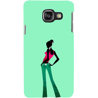 ifasho Girl standing in fashion Back Case Cover for Samsung Galaxy A3 A310 (2016 Edition)