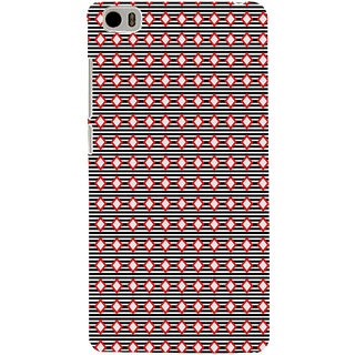 ifasho Animated Pattern of diagonal on black s3Dipes  Back Case Cover for Redmi Mi5