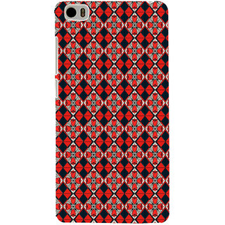 ifasho Animated Pattern small red rose flower with black and red rectangle Back Case Cover for Redmi Mi5