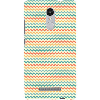 ifasho Animated Pattern of Chevron Arrows  Back Case Cover for REDMI Note 3
