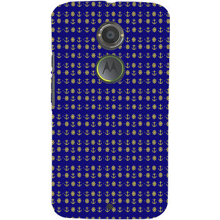 ifasho Modern Art Design Pattern with Lot Of small anchor and disc Back Case Cover for Moto E2