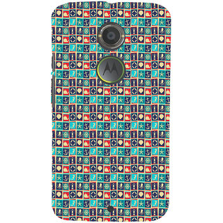 ifasho Modern Art Design Pattern with Lot Of small anchor and animal Back Case Cover for Moto E2