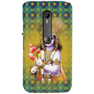 ifasho Lord Krishna in bal avtar Back Case Cover for Moto G3