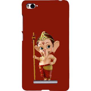 ifasho Modern Art Ganesh Back Case Cover for Redmi Mi4i