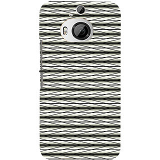ifasho chevron style and Checks In black and white Pattern Back Case Cover for HTC ONE M9 Plus