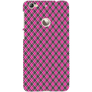 ifasho Colour Full Square Pattern Back Case Cover for LeTV 1S