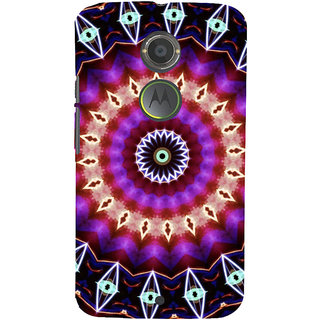 ifasho Animated Pattern design colorful flower in royal style Back Case Cover for Motorola MOTO X2