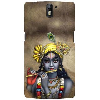 ifasho Lord Krishna with Flute Back Case Cover for One Plus One