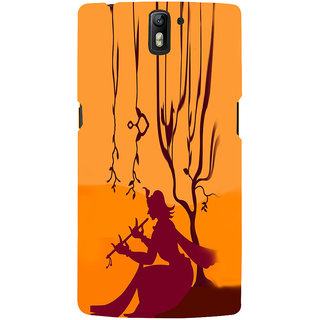ifasho Lord Krishna with Flute animation Back Case Cover for One Plus One