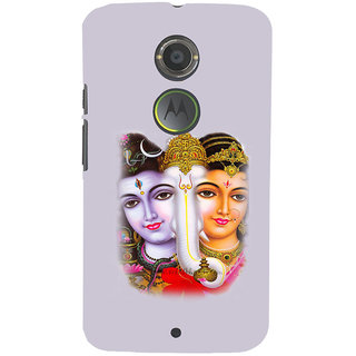 ifasho Siva Parvati and ganesh Back Case Cover for Moto E2