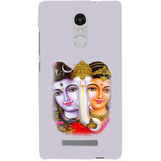 ifasho Siva Parvati and ganesh Back Case Cover for REDMI Note 3