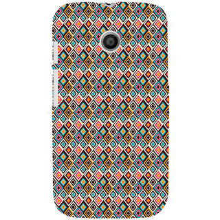 ifasho Animated Pattern colrful rajasthani design Back Case Cover for MOTO E