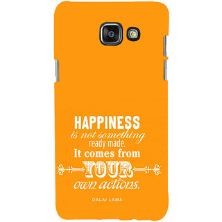 ifasho Faith  Quote on happiness Back Case Cover for Samsung Galaxy A7 A710 (2016 Edition)