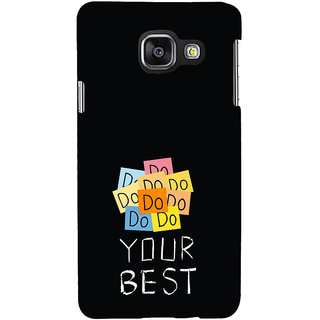 ifasho Do your best Back Case Cover for Samsung Galaxy A3 A310 (2016 Edition)