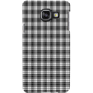 ifasho Modern Theme of black and white Squre lines Back Case Cover for Samsung Galaxy A3 A310 (2016 Edition)