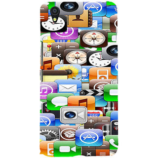 ifasho Modern  animated Design Pattern mobiles camera Back Case Cover for One Plus X