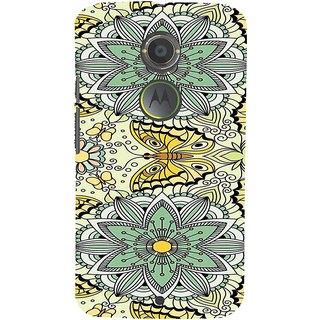 ifasho Animated Pattern colrful flower and butterfly Back Case Cover for Motorola MOTO X2