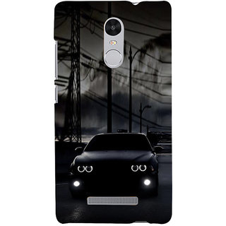 ifasho Black Car Back Case Cover for REDMI Note 3