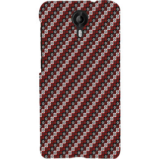 ifasho multi color 3Diangle rectangle and circle Pattern Back Case Cover for Micromax CanvasNitro3E455